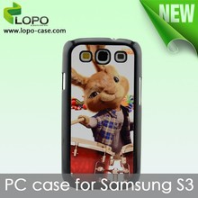 custom 2D blank sublimation PC mobile phone case for Samsung S3