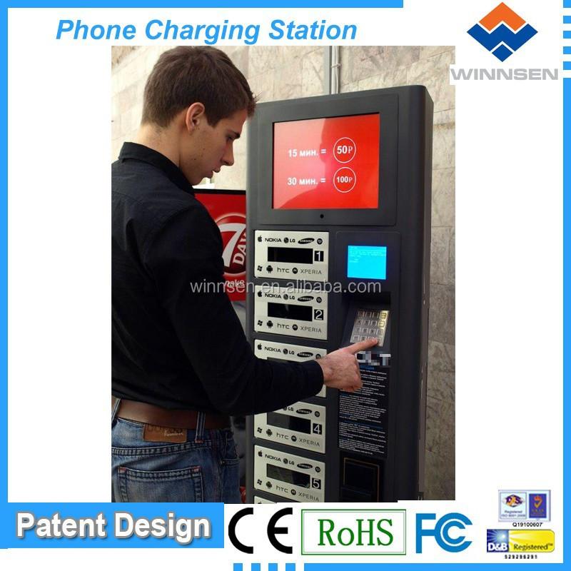 Mobile charging station, with digital locker system, network digital signage APC-06B