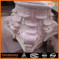House design white round hollow columns
