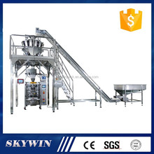 Big angle conveyor Granule Automatic Vertical Weighing and Packaging Machine