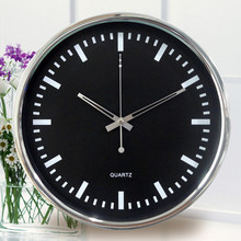 Hotel Decoration wall clock (Metal Chrome material and sweep movement without tick sound