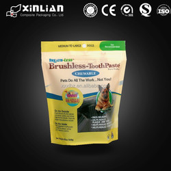 high quality dog treats packaging bag/packaging bag for dog food/pet food packaging
