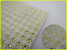 Gold Flower Design 24cm*54cm & Resin Material & Rhinestone Sticker Decals