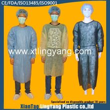 blue medical products disposable non woven surgical gown