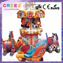 Distributed supplier creez electric Pegasus kids play rotary table hot sale