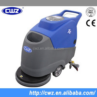 Automatic electric hand held floor scrubber dryer
