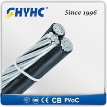 XLPE Insulated Aerial Bundled Cables 6.35/11,12.7/22,19/33kV decorative electrical cable