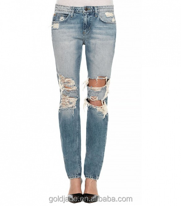 Ladies Damage Jeans Top Design Jeans Manufacturers China For Women - Buy Ladies Jeans Top Design ...