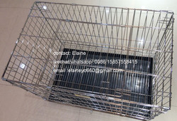 large folding stainless steel dog cage for sale