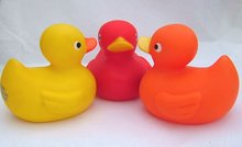 Rubber Ducky Bath Toy Party Favor Set of (3) ~ 1 Large & 2 Small Yellow Ducks