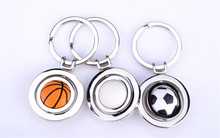 creative metal key ring, Football/ basketball /golfball key chain