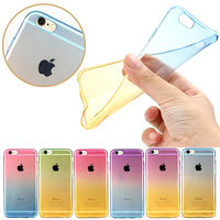 colorful Dual colors transparent soft TPU cover case for apple iphone5 5s