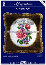 Red flower cross-stitch hand embroidery design patterns creative pillow case