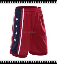 Hot Fashion 100% Polyester Custom Wholesale Men Basketball Shorts