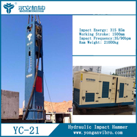 Hydraulic hammer manufacturers Hydraulic hammer pile for crane YC21widely applied for most types of piling and foundation works