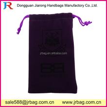 Purple Knitted Velvet stuff packing bags
