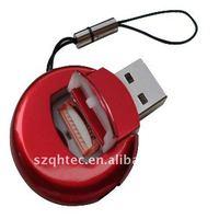 single tf card reader driver in round design