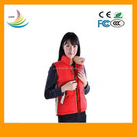 Red nice heated vest for whole sale/heated vest