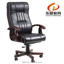Executive CaressoftPlus Pillow Top Chair with Padded Armrests Wooden Base for Computer Desk Chair H-806