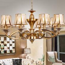 Copper LED pendant lamp, Chinese LED glass pendant light