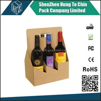 Factory Recycled OEM Design Coated Cardboard Beer Carrying Case
