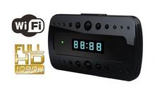 HOT desk clock hidden camera T10 Wireless WiFi IP P2P IR Night Vision H.264 remote control alarm clock