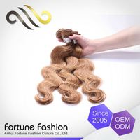 Luxury Quality 100% Real Human Golden Indian Blonde Hair Bundles Blond Weft