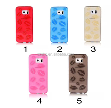 High Quality Sexy Lips Soft TPU Protective Case Back Cover For Samsung Galaxy S6