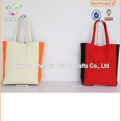 new style fashion canvas lady handbag,canvas women concise tote bags