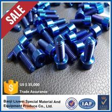 blue anodized titanium bolt