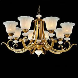 modern new design 8 arms glass chandelier for home restaurant , decorative glass shade chandelier lighting