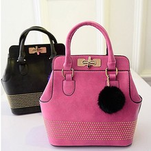 E988 new arrvial factory price fashionable studded pu leather bag