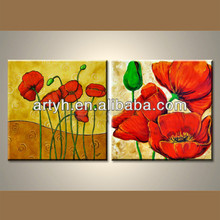 Attractive Handmade Modern Group Flower Painting For Decor