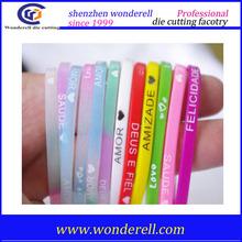 Custom embossed printed logo Silicone Wristband / silicone bracelet herbalife silicone bracelets