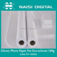180gsm waterproof glossy inkjet photo paper a4 in roll