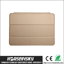 Golden color for ipad cover Original folding leather flip cover for ipad cover,for ipad mini case,for ipad air 2 case