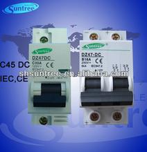 IEC Electrical DC MCB C45 Mini Circuit Breaker up to 63A 4P