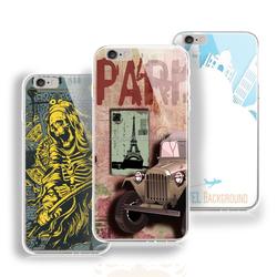 slipy paris style hybrid phone TPU case for iphone 6 plus