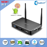 Newest Amlogic S905 android TV box W9 with Lollipop android 5.1 OS 2.4+ 5.8G WIFI 4K2K video supported