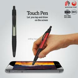 Touch active rubber grip plastic pen