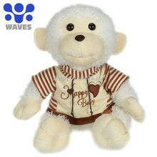 Direct from factory, monkey baby with clothes Plush stuffed toys