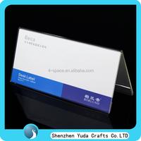 clear nameplate holder acrylic desk label holder plexiglass V desk nameplate holder