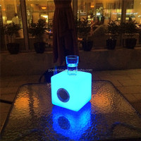 plastic cube shaped music light bar used bluetooth speaker with led