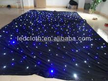 Fireproof led starlight curtain ,led star cloth