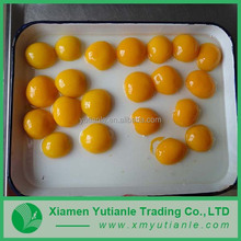 Hot sell delicate multicolor organic canned peaches