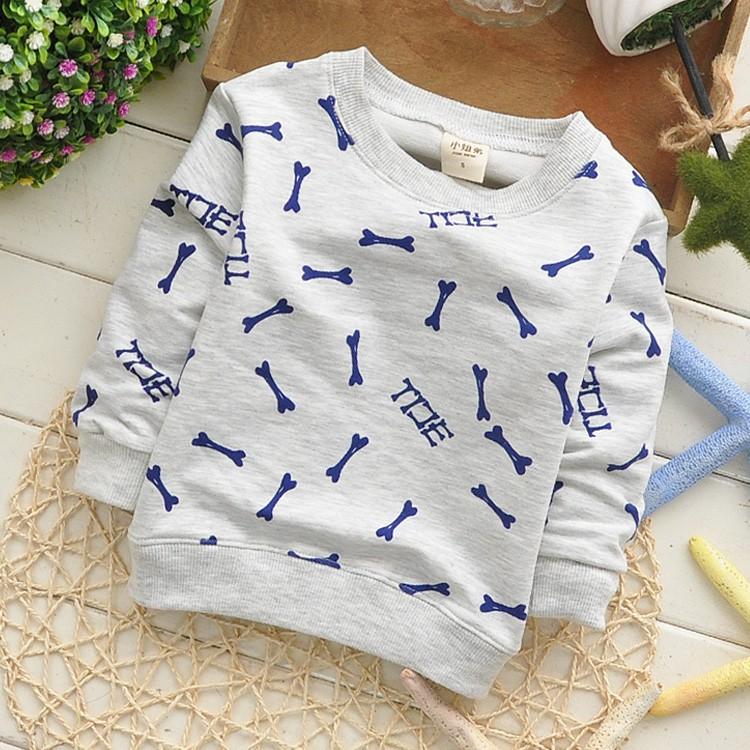 spring autumnbone Модный Хлопок baby Детский sweatрубашка 1pcs KT238R