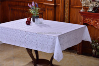 137cm rolling PVC Table Cloth , embossed flower tablecover of manufacturer
