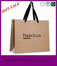 2015 Hot Sale New design brown kraft paper bags