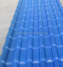 Heat preservation ASA spanish PVC roof tile/ synthetic resin tile/ spanish tile