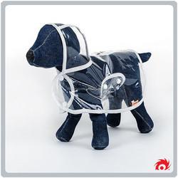 Pet dog cat suit Teddy for transparent raincoat clothes
